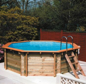 Top 25 backyard pool designs home interior help for Wooden pool