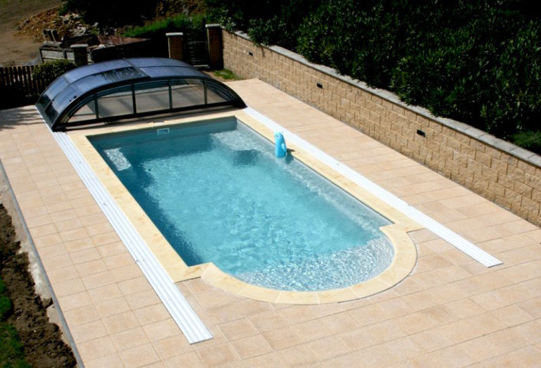 Completed JAVA 85 ceramic pool installation