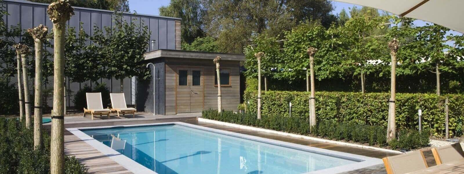 Pool with Poolhouse