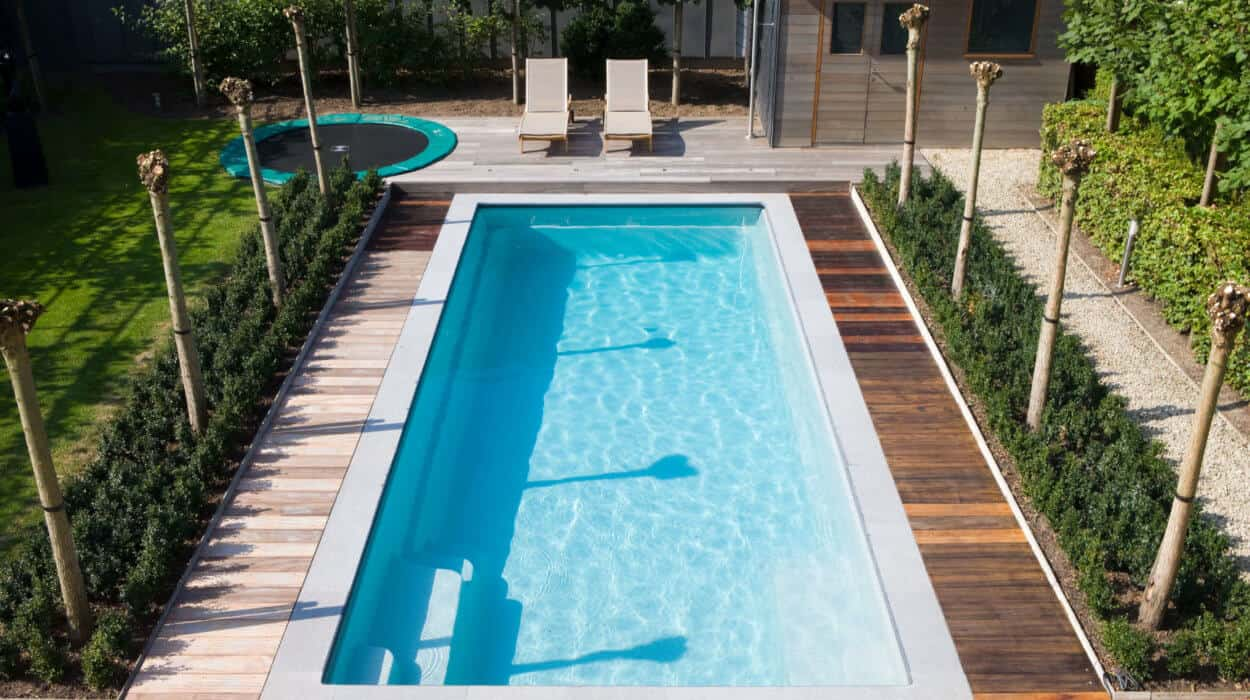 Outdoor Pool with Deck