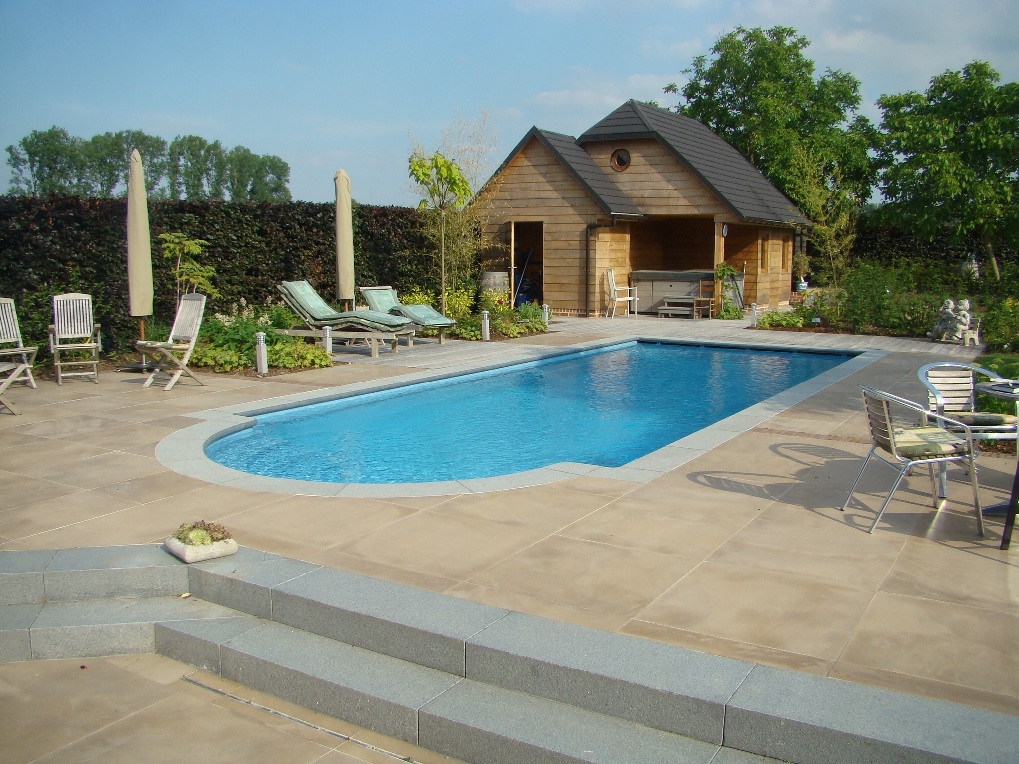 Outdoor swimming pool installation design consruction for Outdoor pool design uk