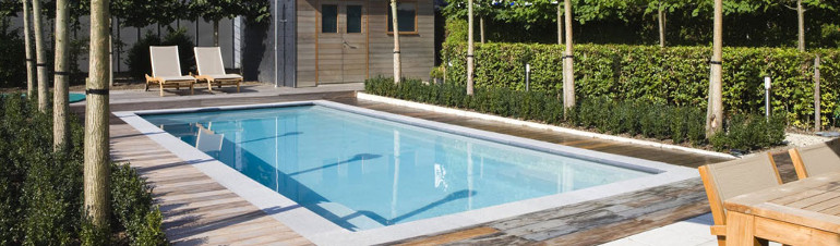 Contact page header image showing an outdoor pool