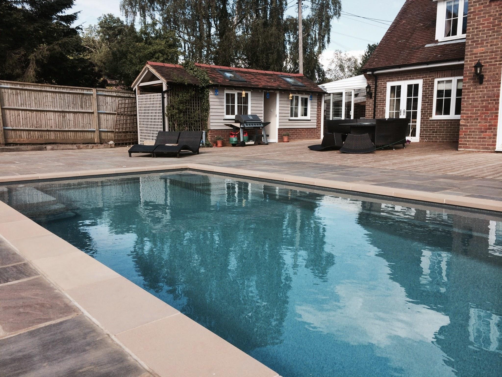 Outdoor swimming pool installation design consruction for Outdoor swimming pool design uk
