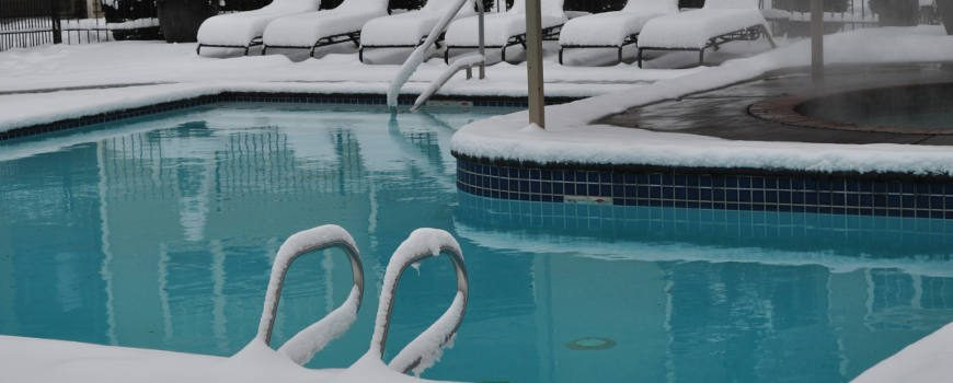 Snow covered pool