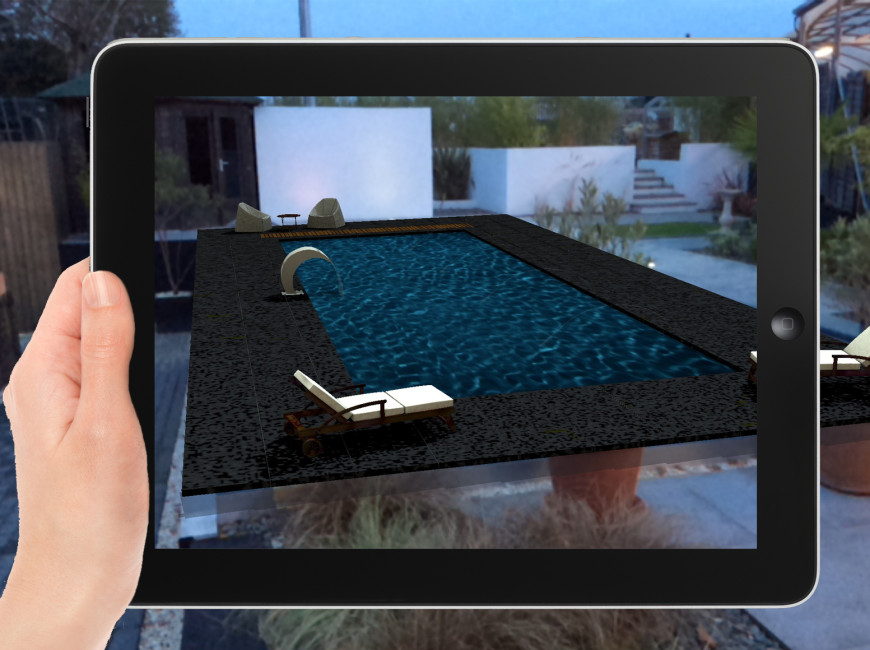 augmented reality swimming pool