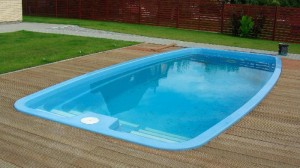 Fibreglass and polyester pool