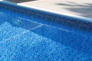 Block and PVC liner pool