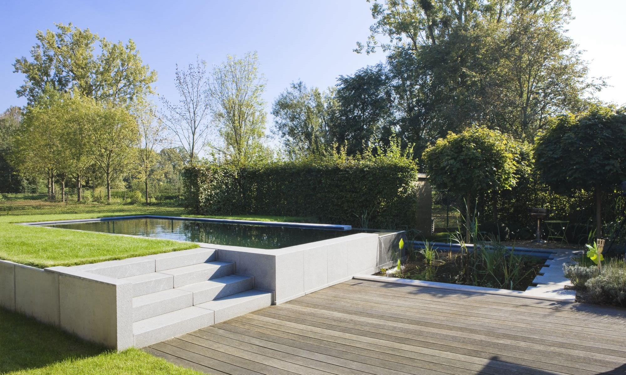 Natural swimming pool from compass compass pools for Garden pool uk