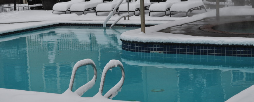 winter swimming pool