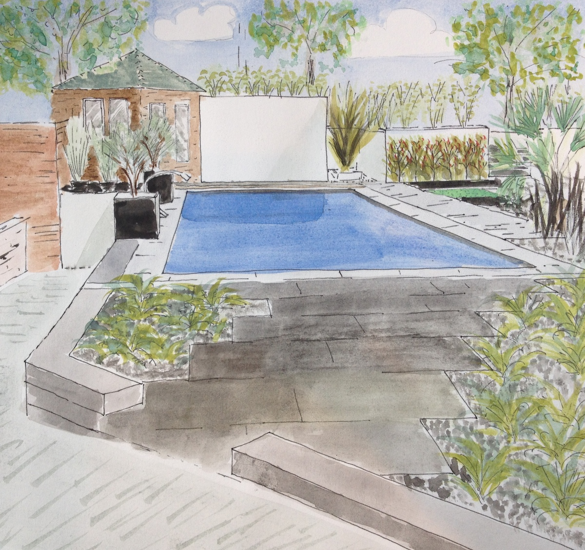 Swimming pool design service compass pools for Allied gardens swimming pool